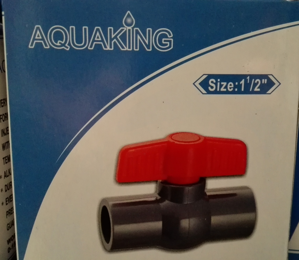 "Aquaking - Kogelkraan  Lijm size 1 1/2"" (50mm)"