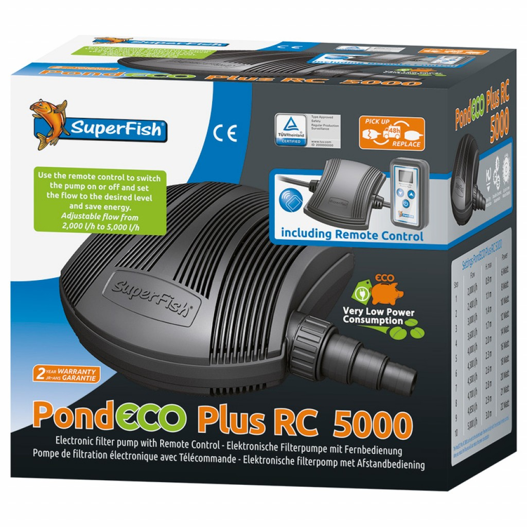 PondEco Plus RC 5000 vijverpomp